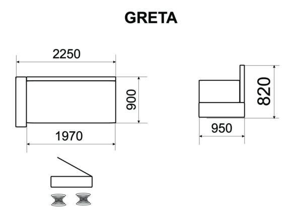 Diivan-voodi GRETA 2
